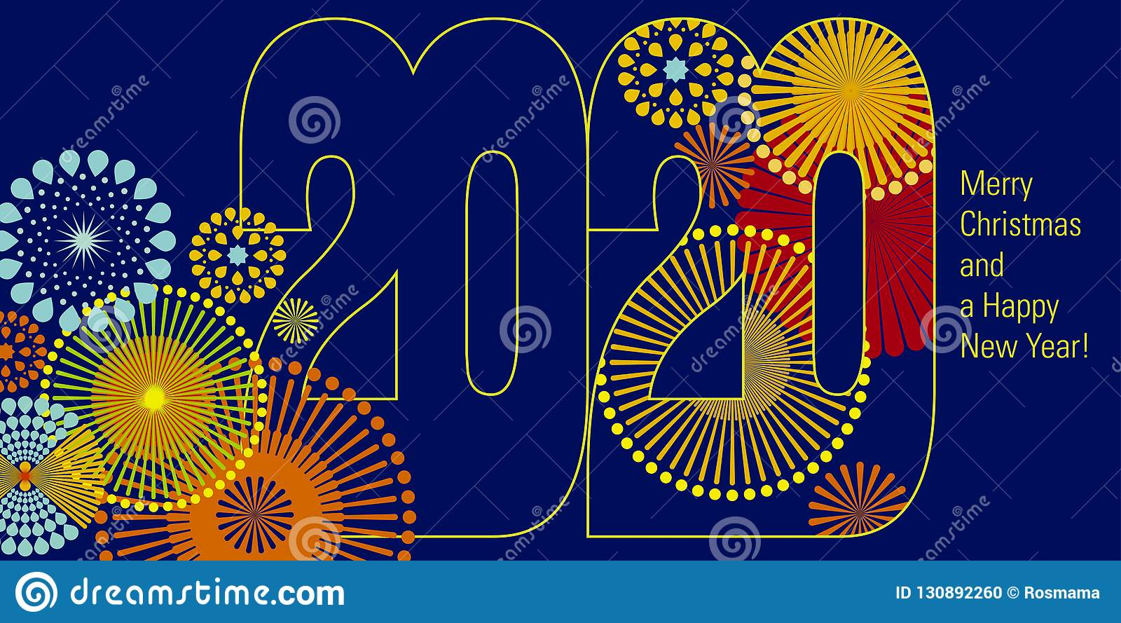 Happy New Year 2020 Vector Background Stock Illustration Illustration Of 2020 Event 130892260
