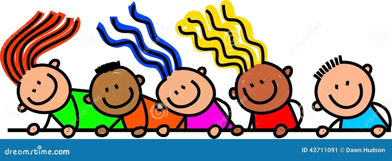 Happy Page Border Kids Stock Illustration  Image 43711091