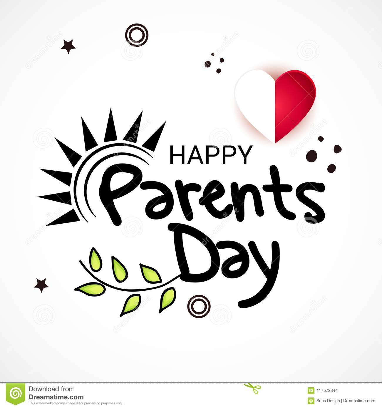 Happy Parents Day Stock Illustration Illustration Of Flyer 117572344