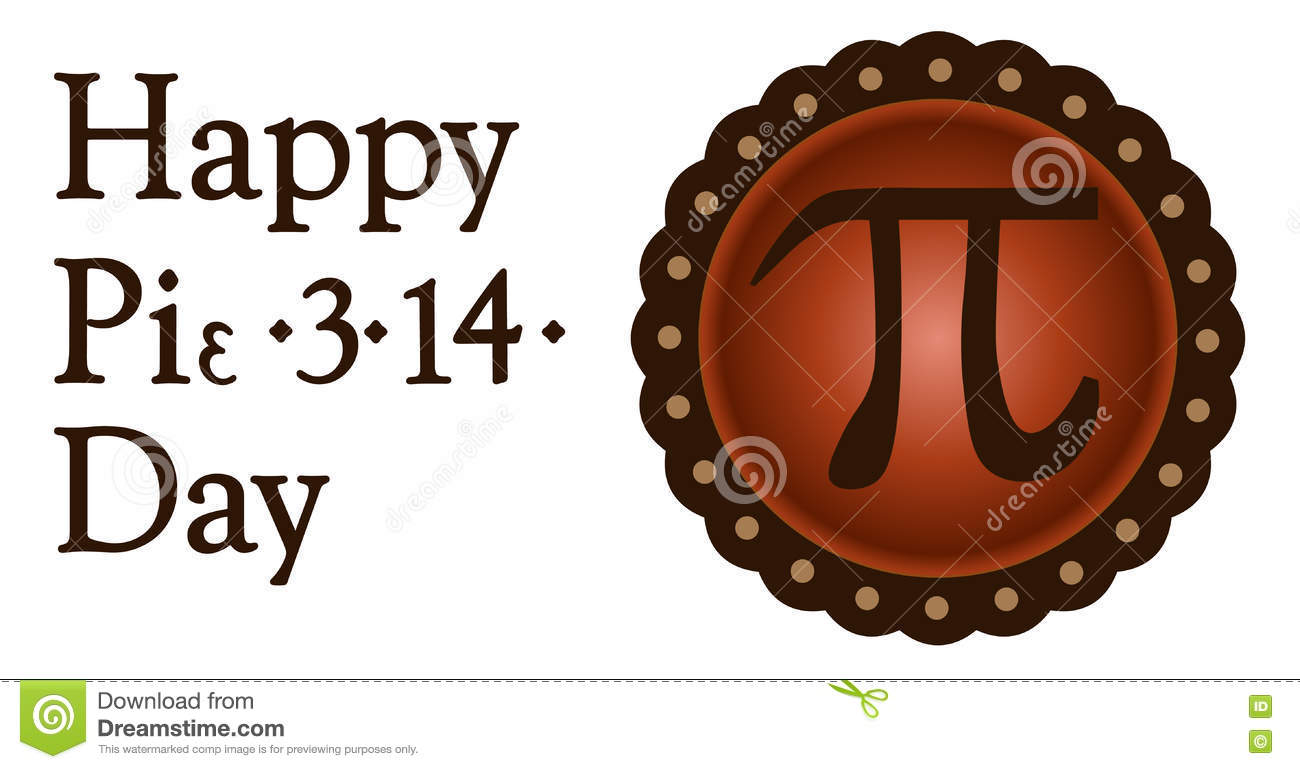 Happy Pi Day March 14 Stock Vector Illustration Of