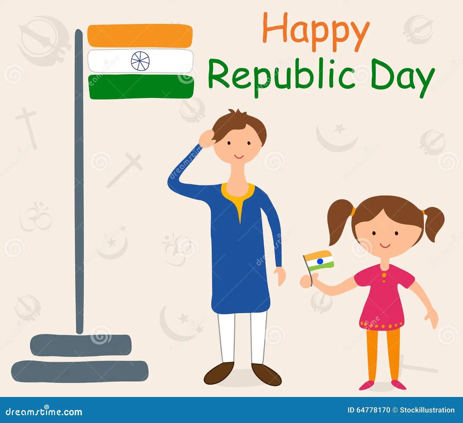 Happy Republic Day Of India Stock Vector