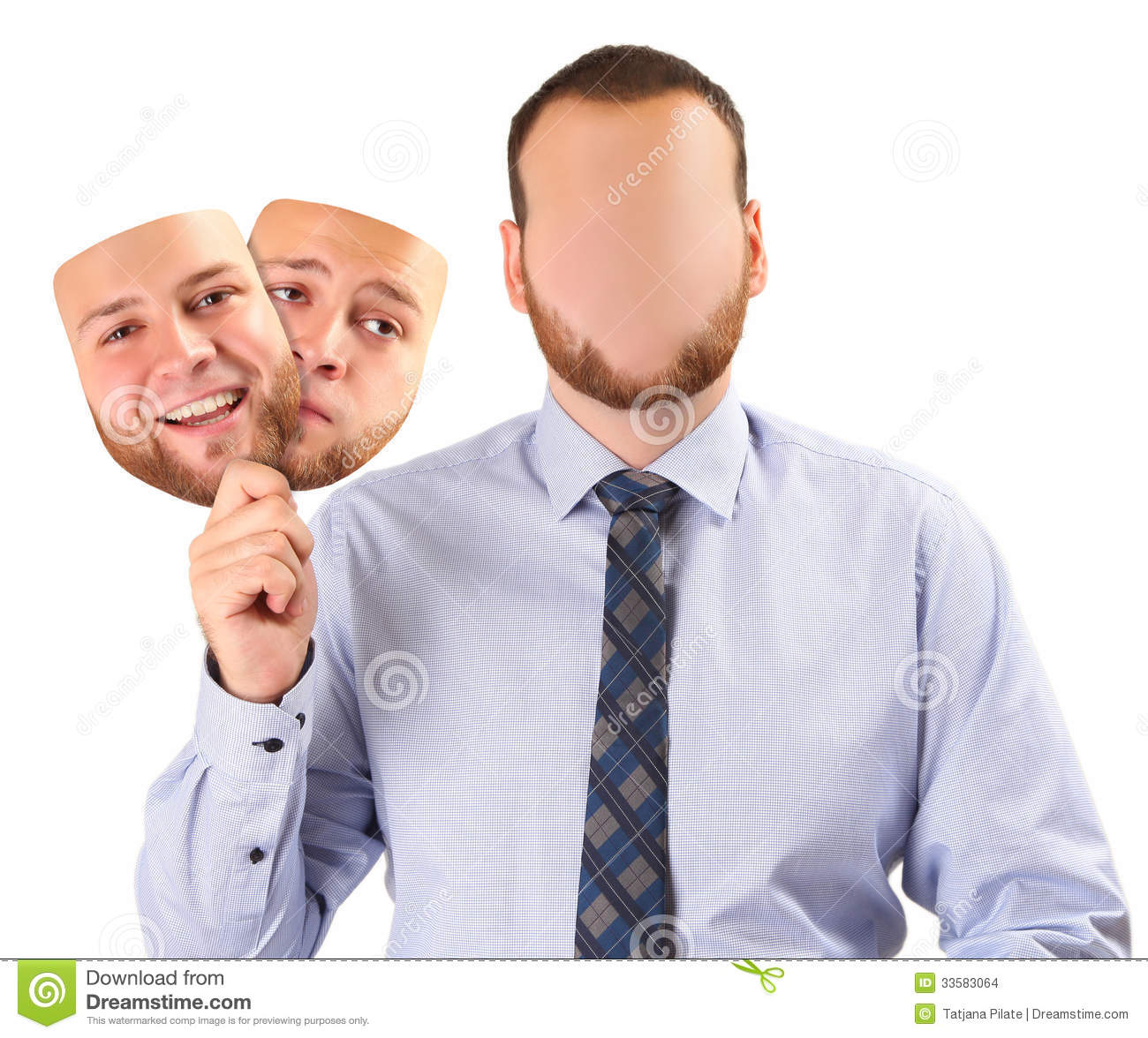 Happy And Sad Stock Photo Image Of Individuality