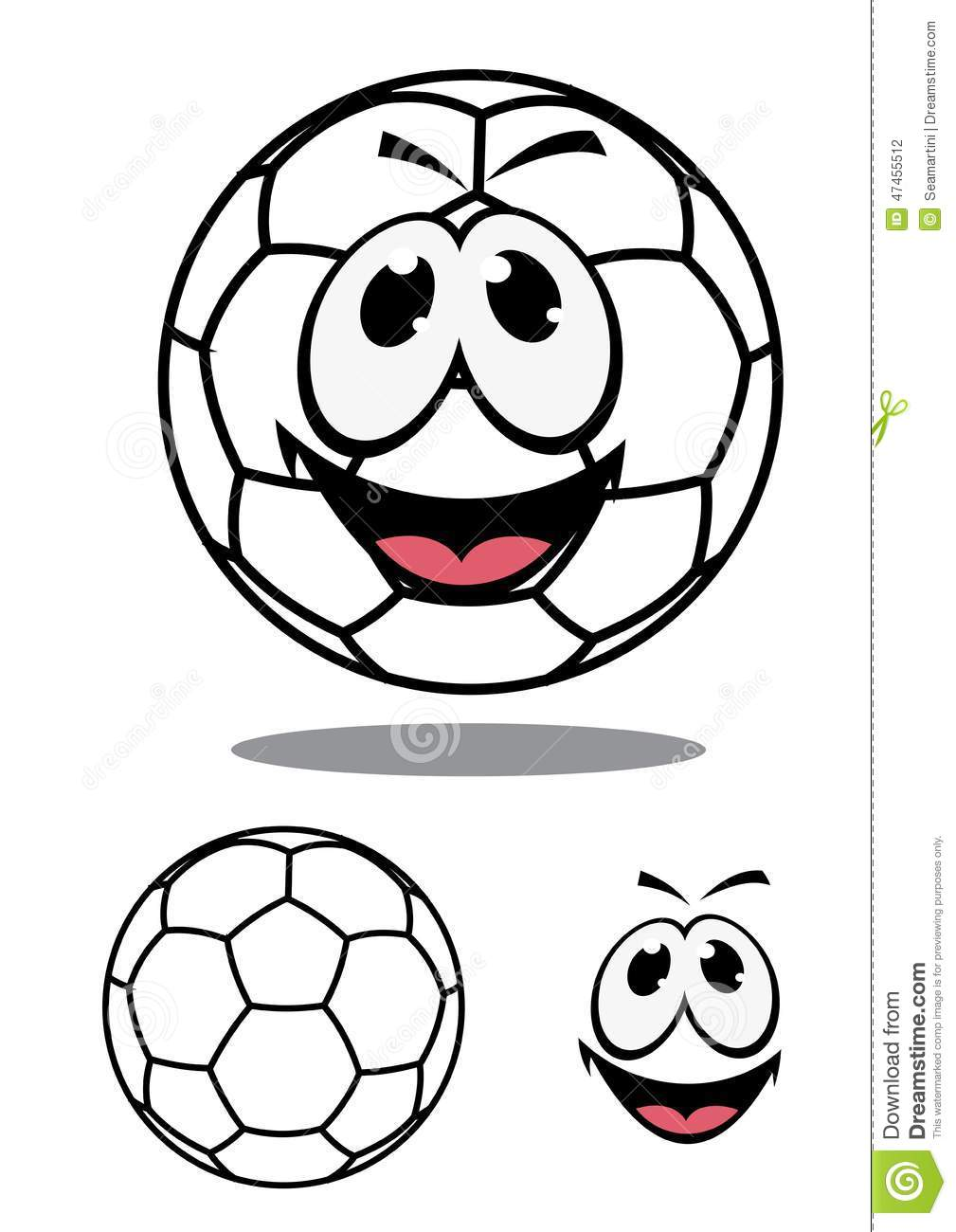 Happy Soccer Or Football Ball Character Stock Vector