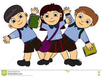students student cartoon uniform clipart happy clip three cliparts cute animated posing royalty happily english integers presentation การ he preview