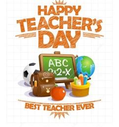 happy teacher s day vector poster design best teacher ever [ 1190 x 1300 Pixel ]