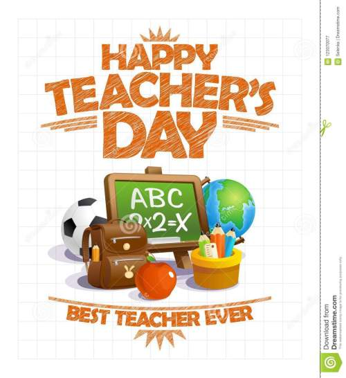 small resolution of happy teacher s day vector poster design best teacher ever