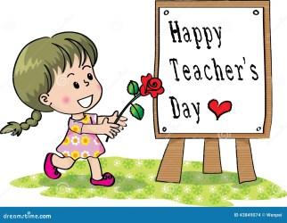 teachers happy clipart children lerarendag gelukkige say rose holding felice insegnanti giorno degli