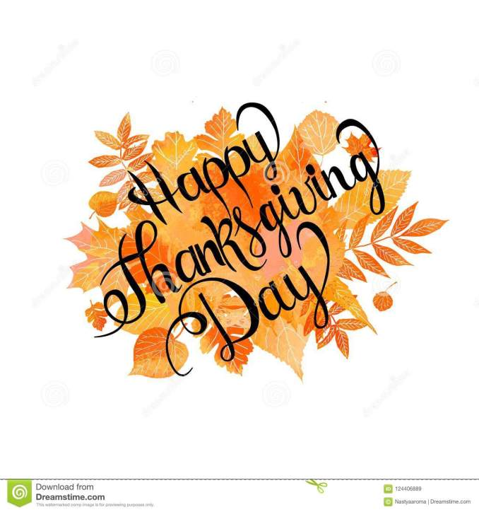 Happy Thanksgiving Day Poster Stock Illustration - Illustration of concept,  drawn: 124406889