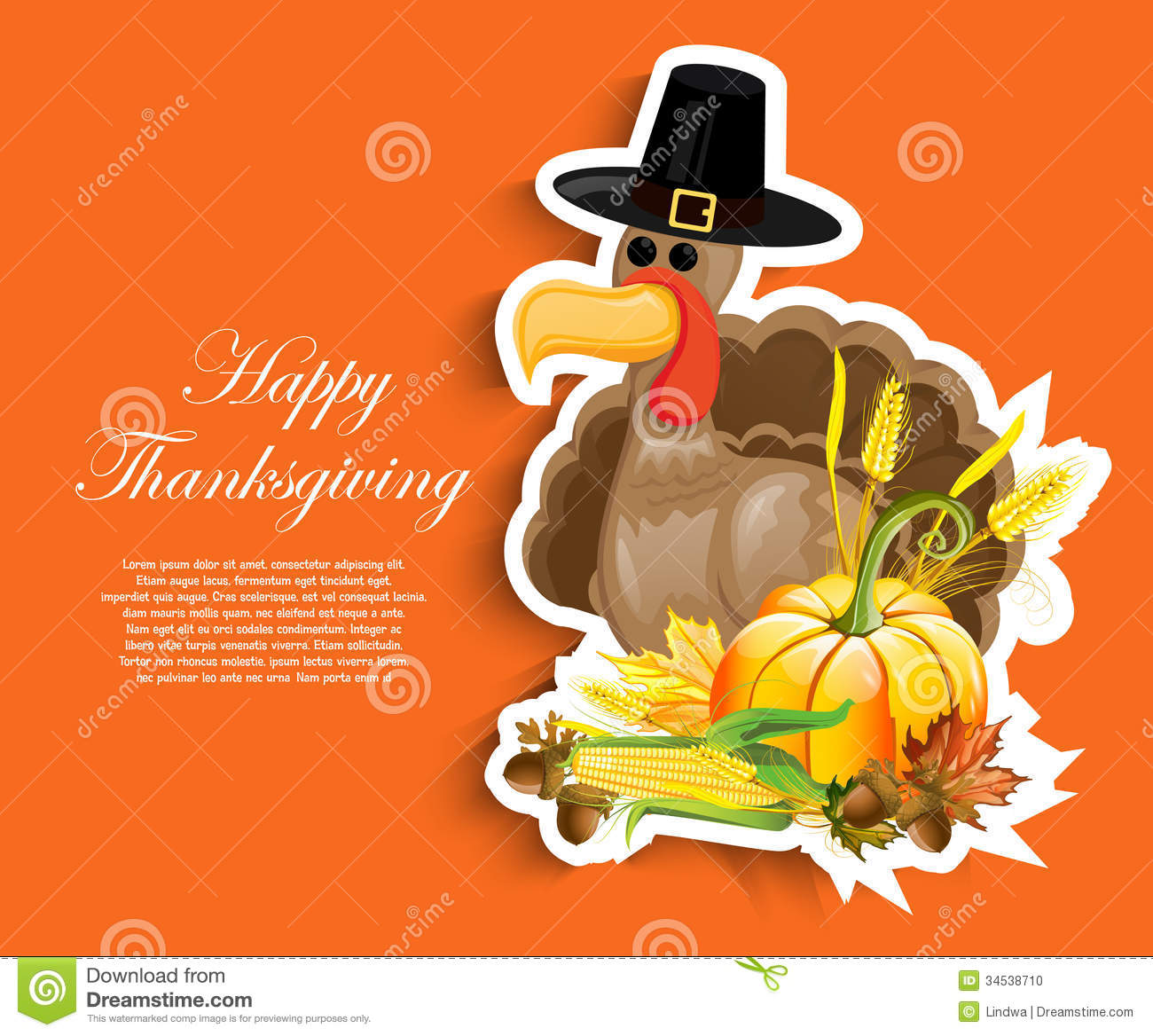 Fall Vector Wallpaper Happy Thanksgiving Day Stock Photo Image 34538710