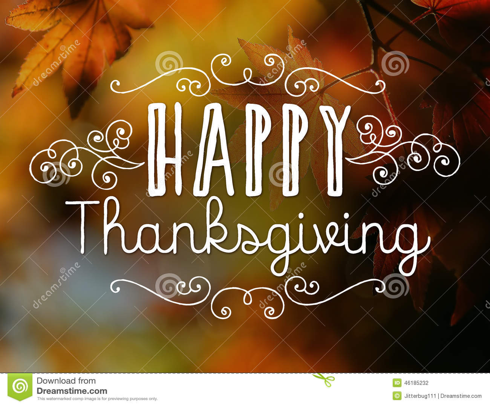 Pumpkins And Fall Leaves Wallpaper Happy Thanksgiving Stock Illustration Illustration Of