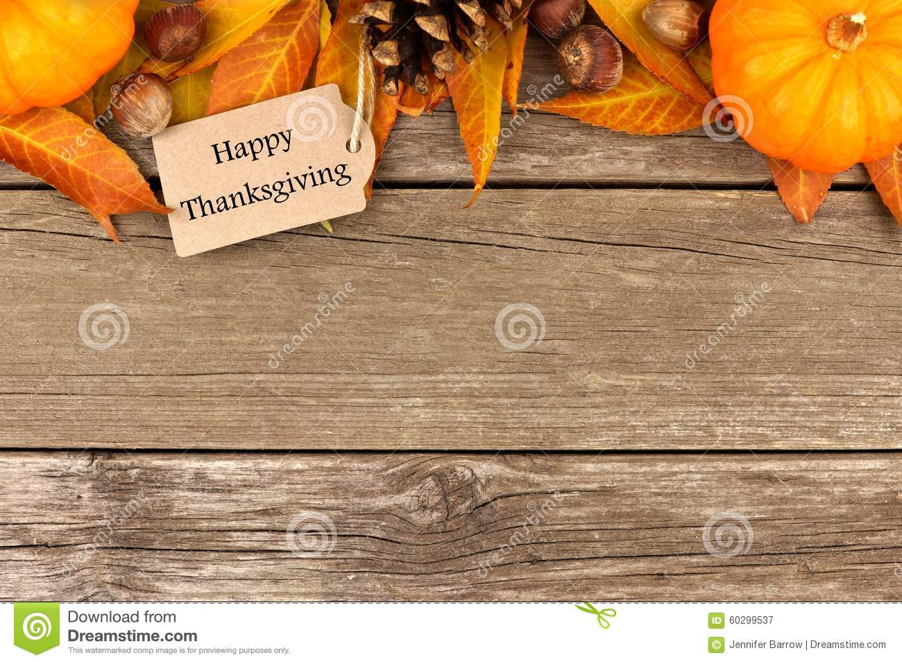Fall Leaves And Pumpkins Wallpaper Happy Thanksgiving Tag With Autumn Top Border On Rustic