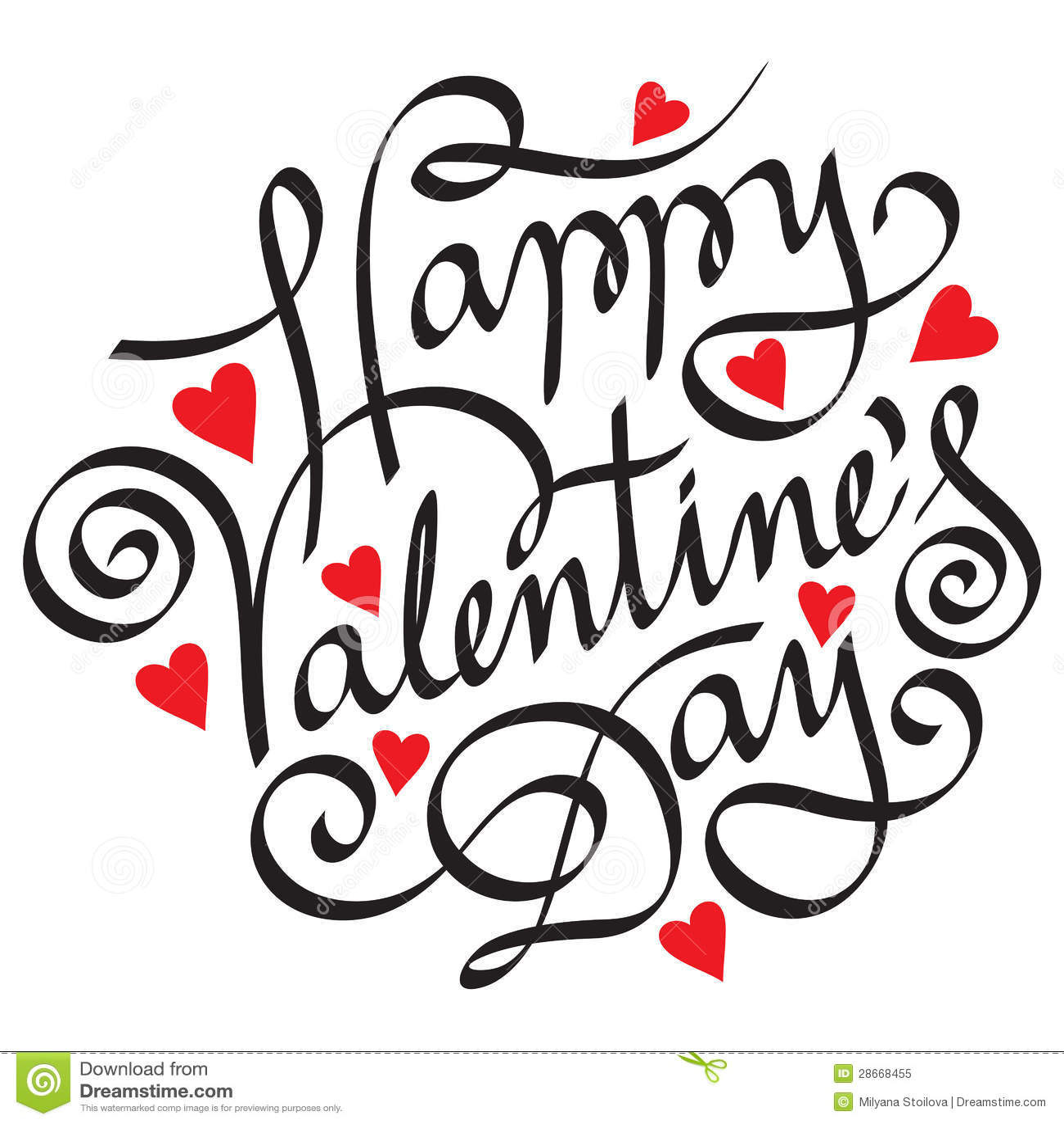 Happy Valentine Day Royalty Free Stock Photo