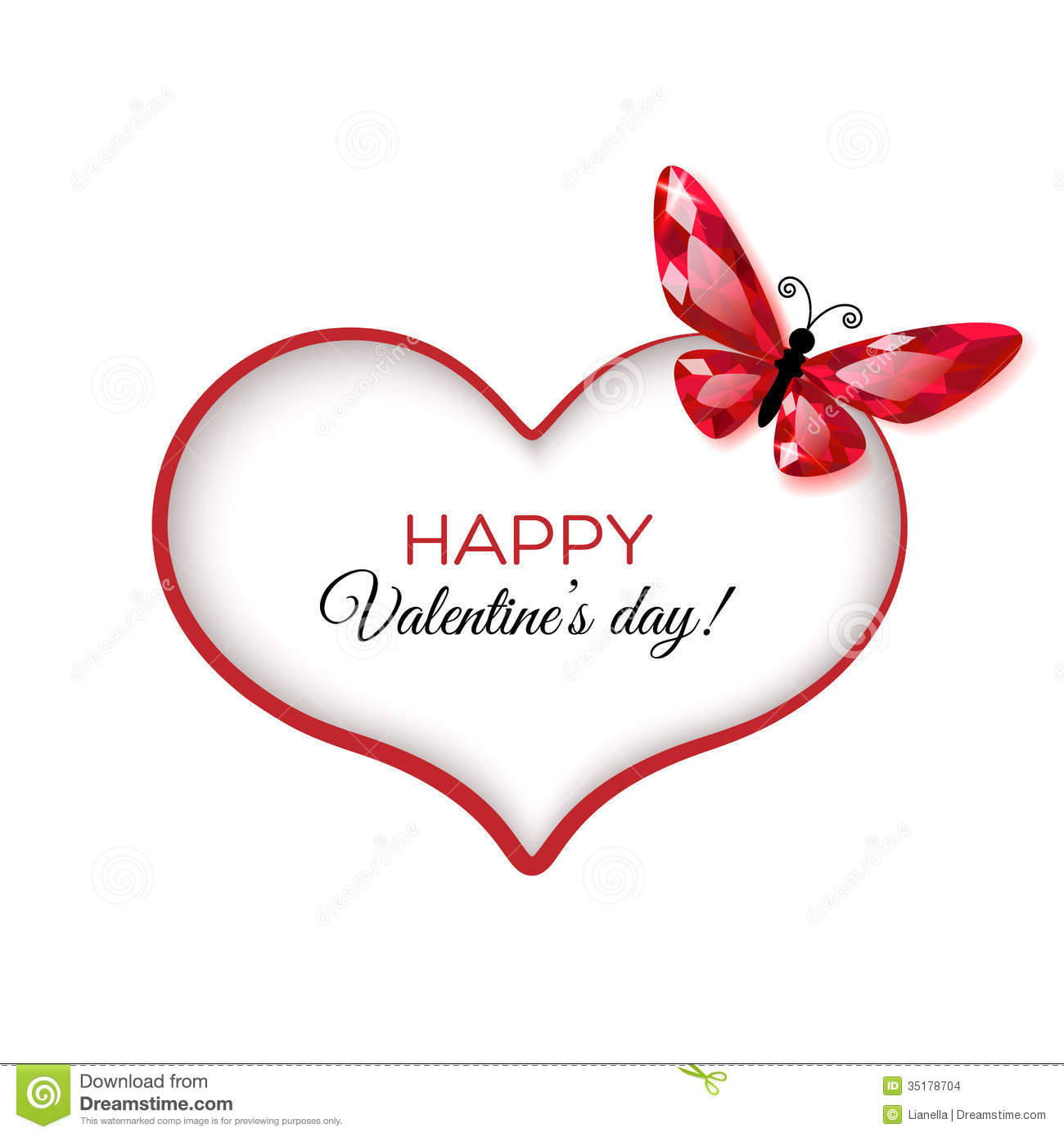 Happy Valentine S Day Greeting Card Stock Vector