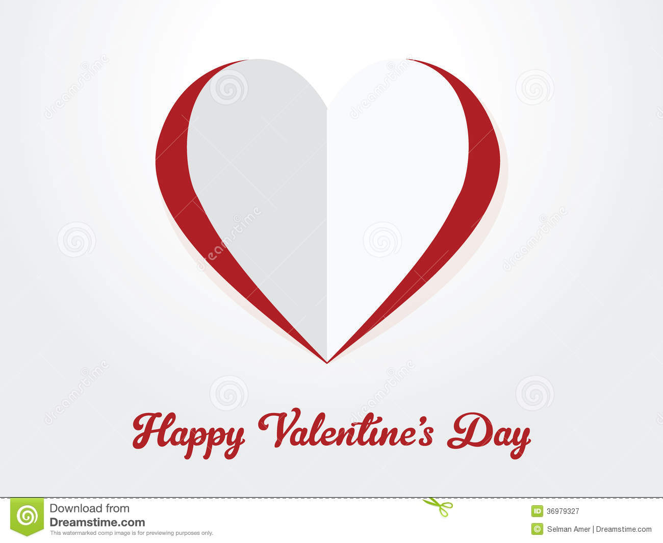 Happy Valentine S Day Paper Heart Cut Out Royalty Free