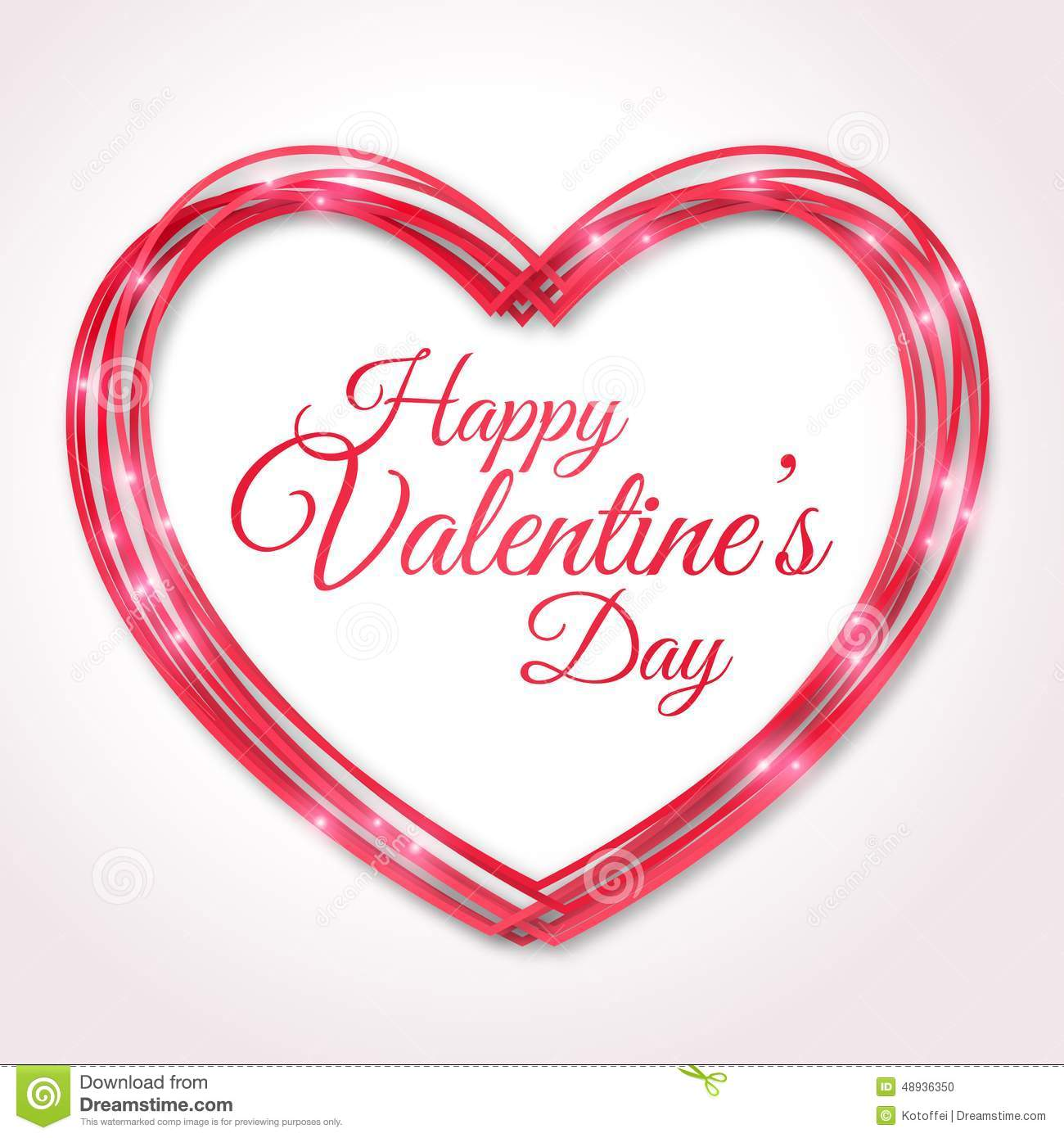 Happy Valentines Day Greeting Card Stock Vector