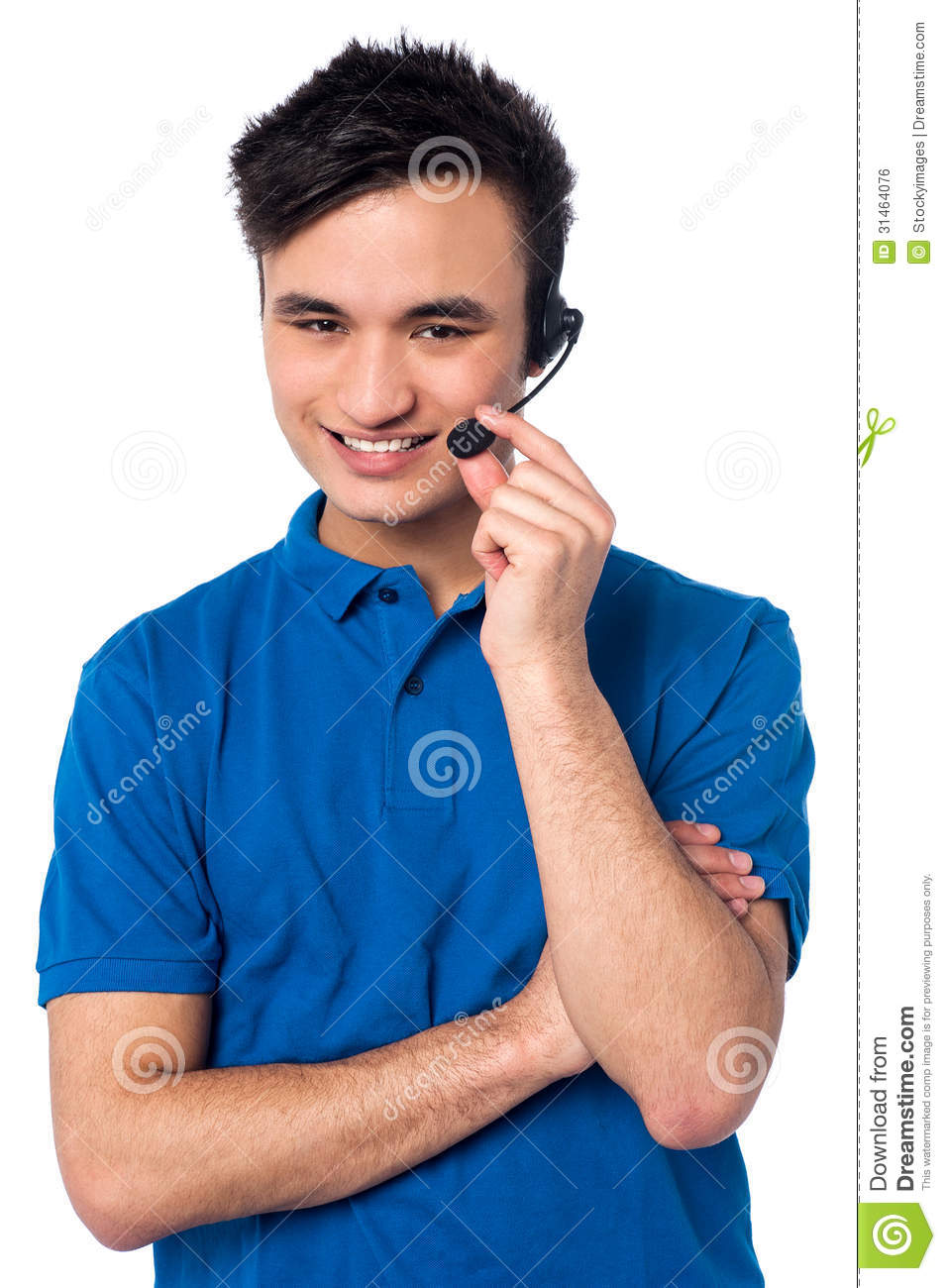 Happy Young Customer Support Executive Royalty Free Stock Image  Image 31464076