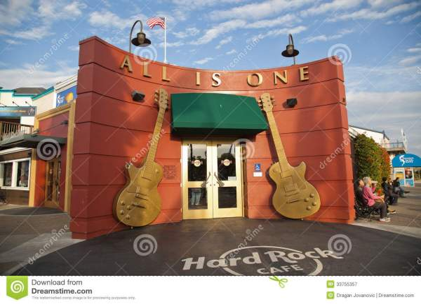 Hard Rock Cafe In San Francisco Editorial