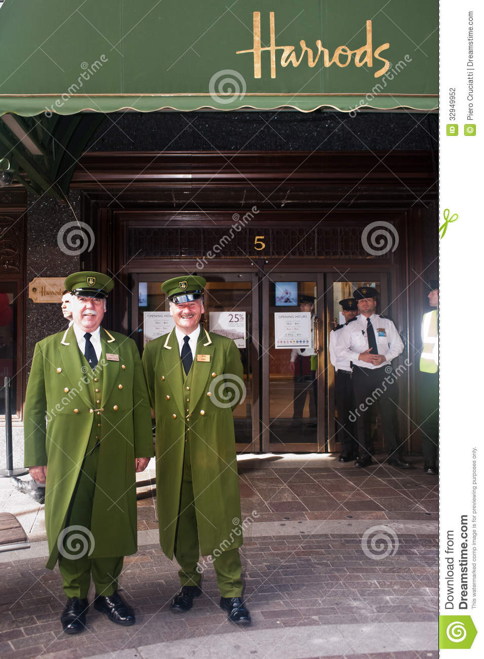 Harrods Concierges In London Editorial Photography Image