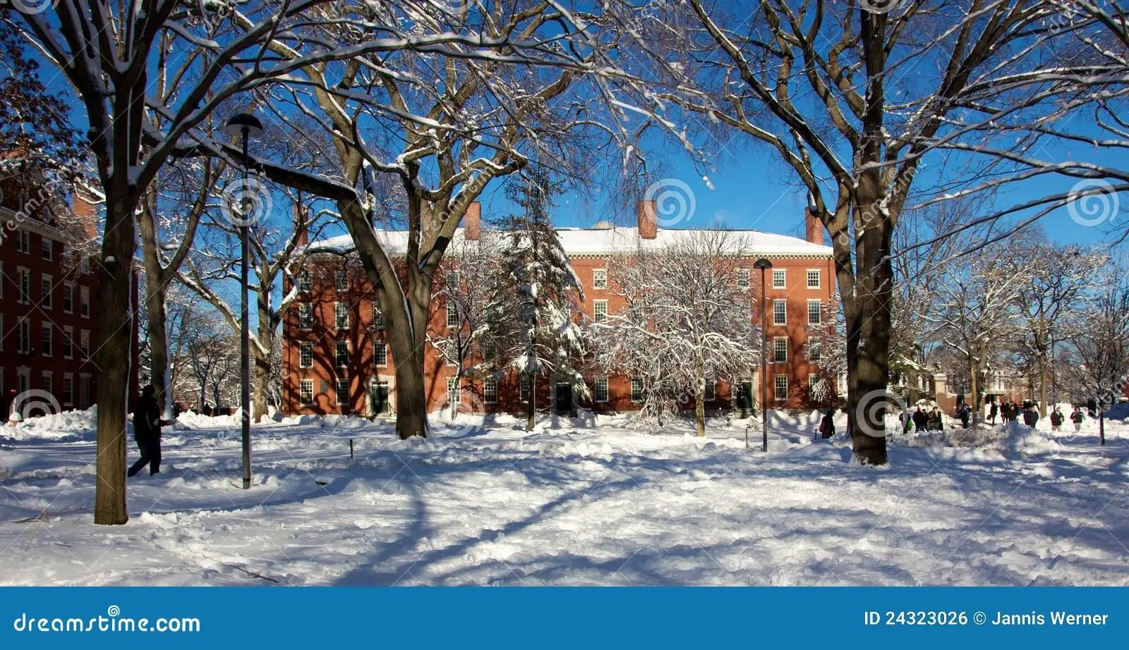 Wallpaper Desktop 3d Animation Harvard University Campus Dorm After A Snow Storm