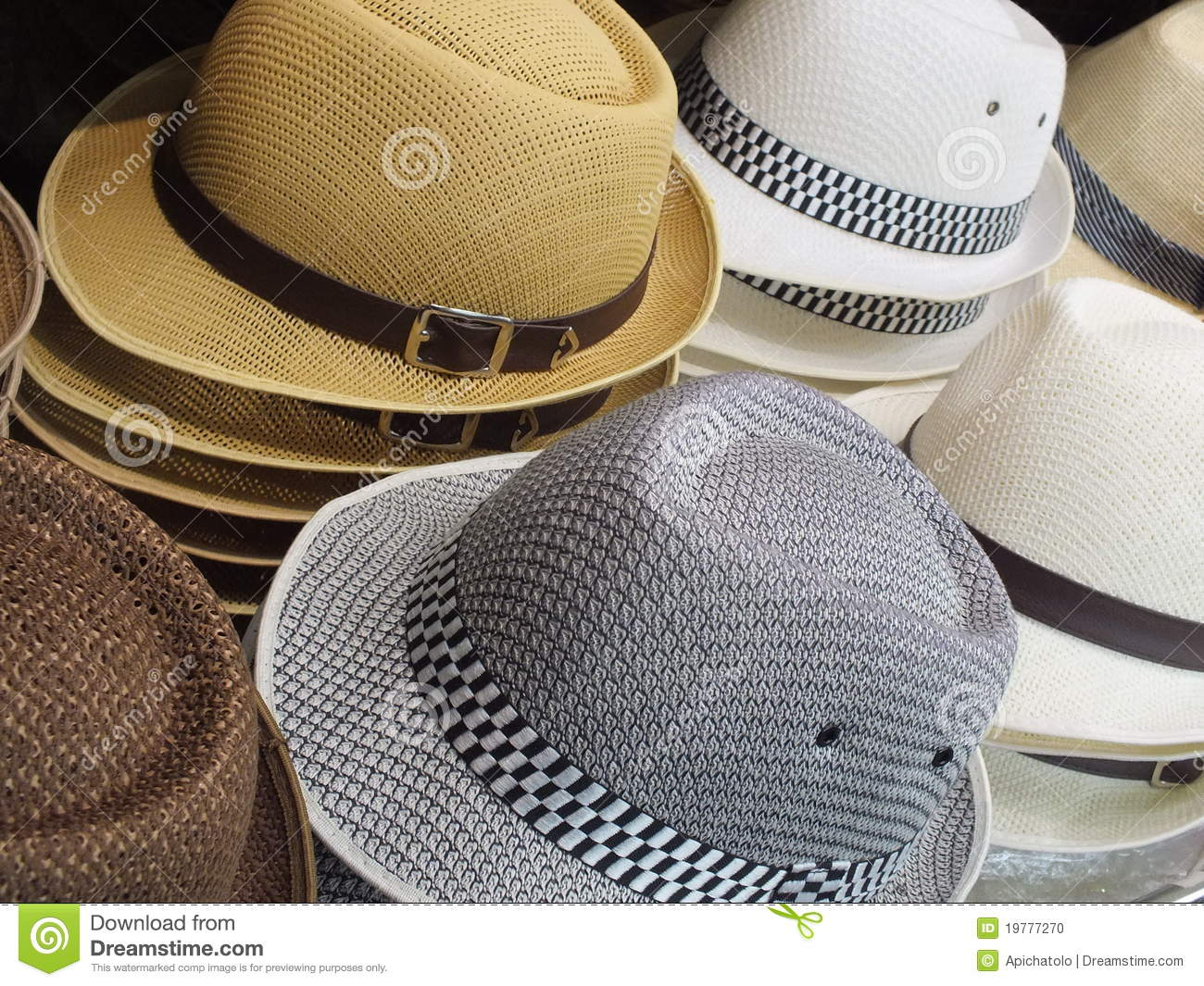 Hat Theme Stock Photo Image Of Object Cloth Multi