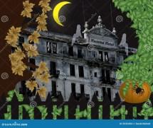 Haunted Hotel Halloween Scenes