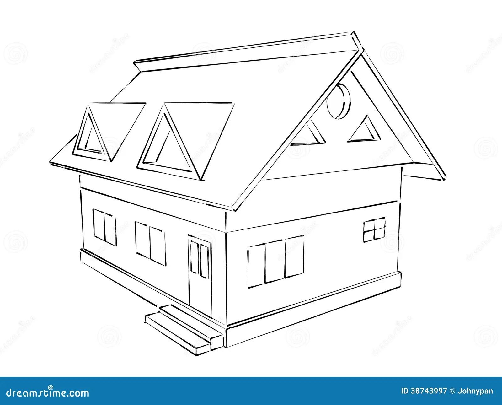 Hausskizze Stock Abbildung Illustration Von Auslegung