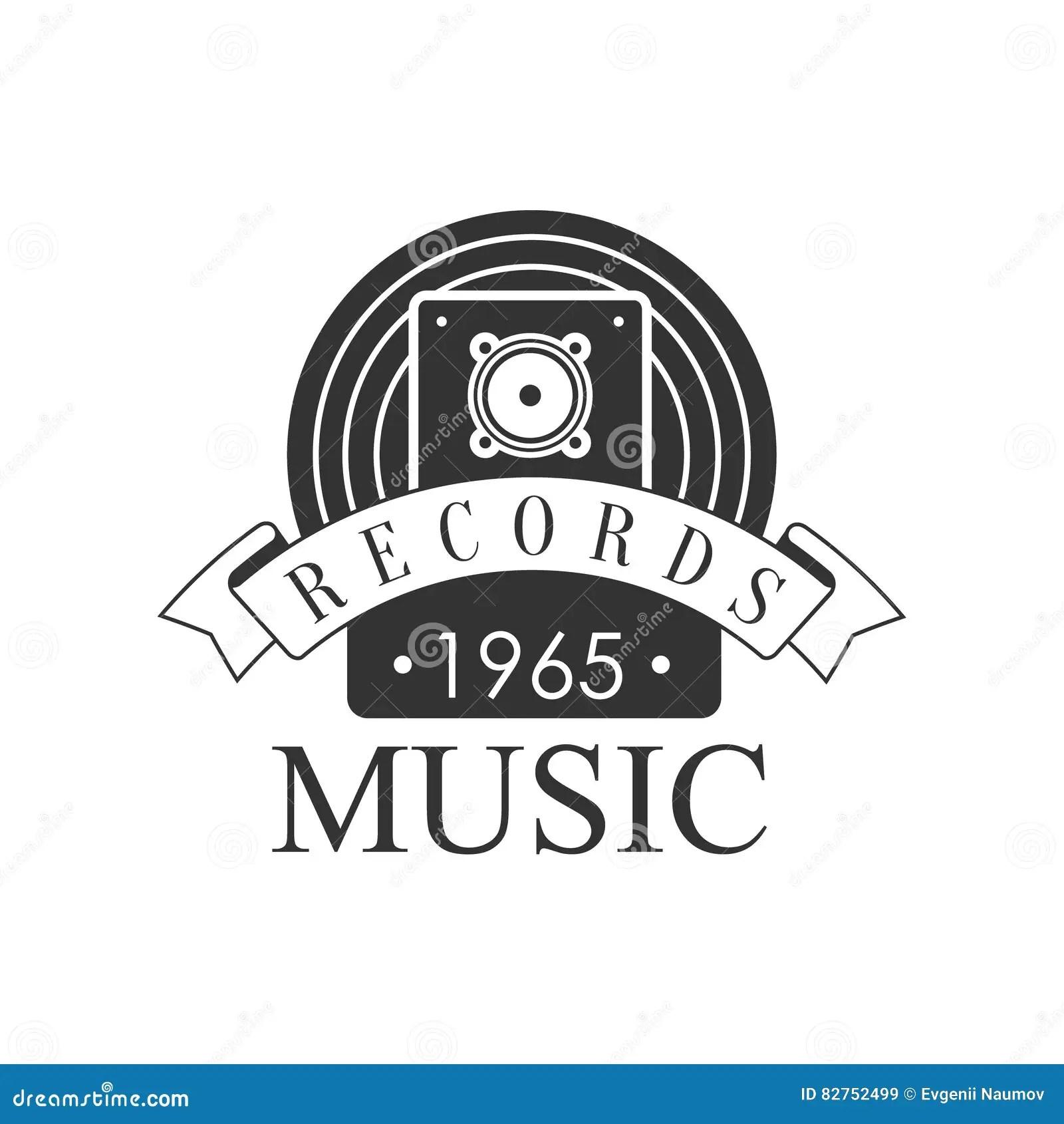 Haut-parleur Noir Et Blanc De Logo Template With Sound