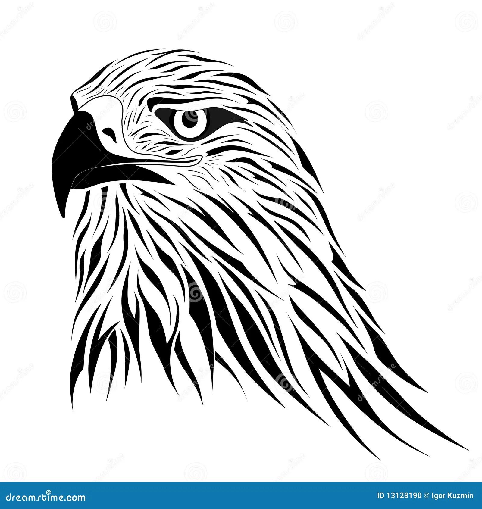 Hawk, tattoo stock vector. Image of hawk, claws, bird