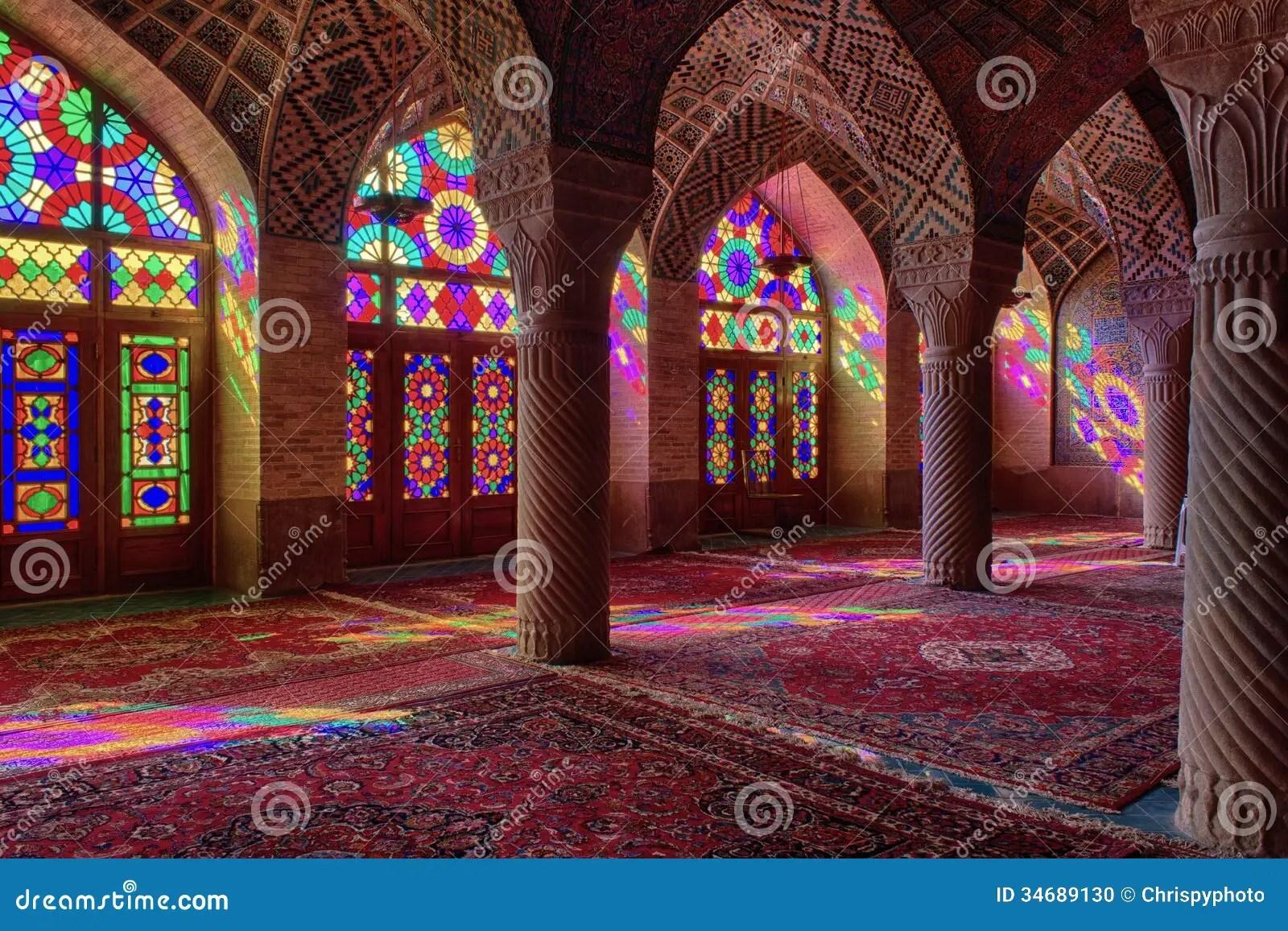 Beautiful Islamic Wallpapers Hd Hdr Of Nasir Al Mulk Mosque In Shiraz Iran Stock Photo