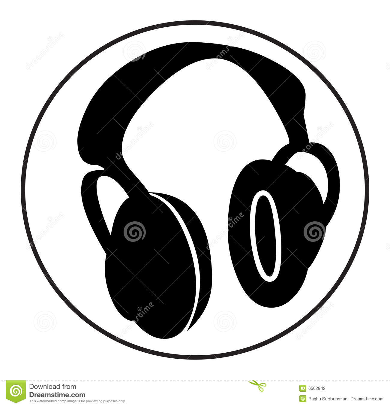headphone stock illustration illustration