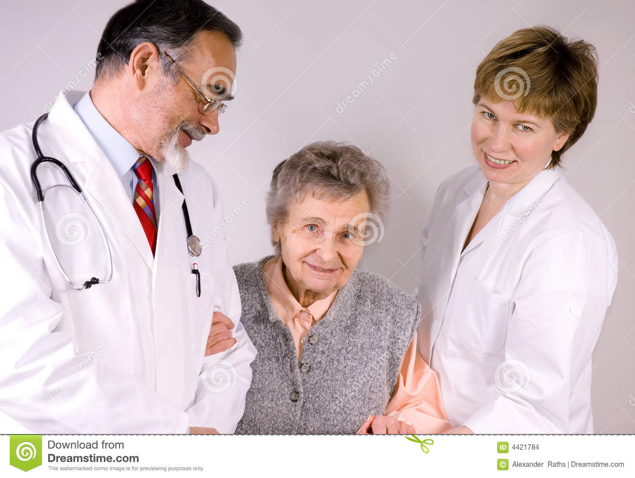 Health Care Workers Stock Photo Image Of Smile Elderly