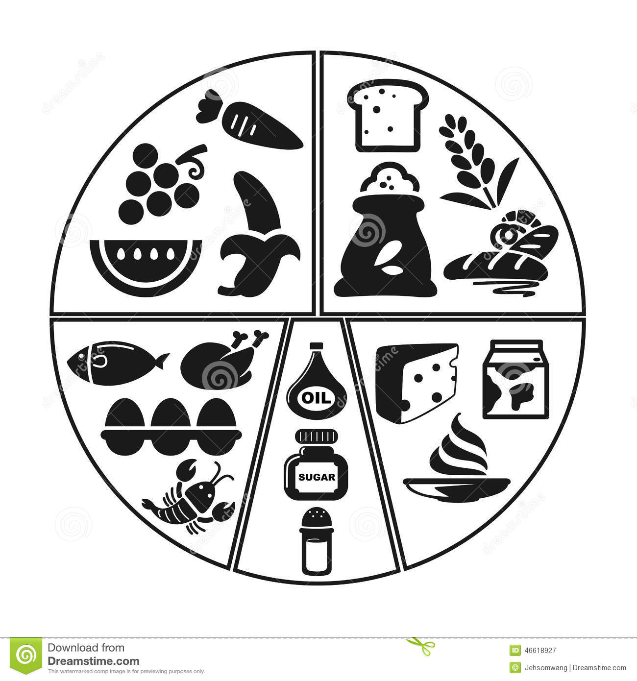 Health Food Group Info Graphic Icon Stock Vector
