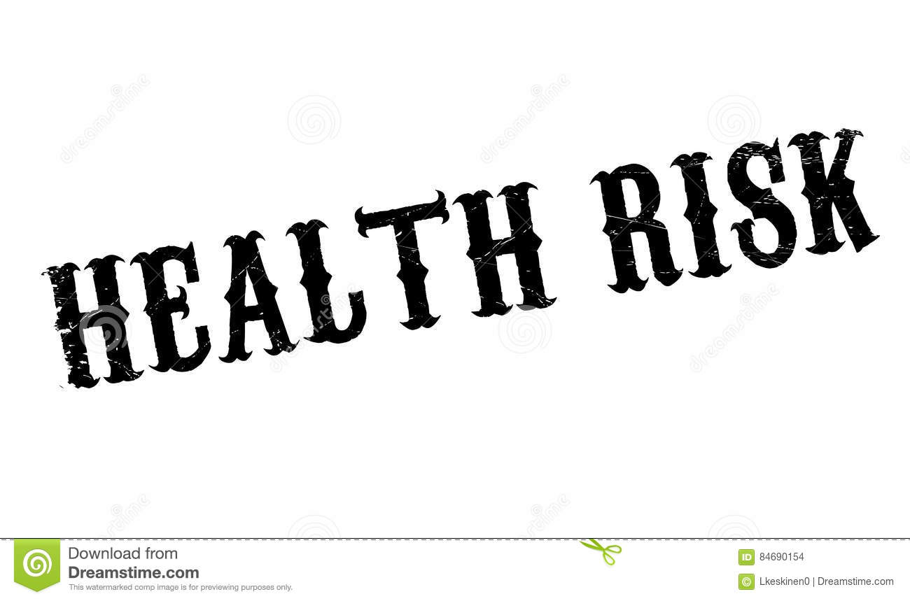 Health Risk Rubber Stamp Royalty-Free Stock Image
