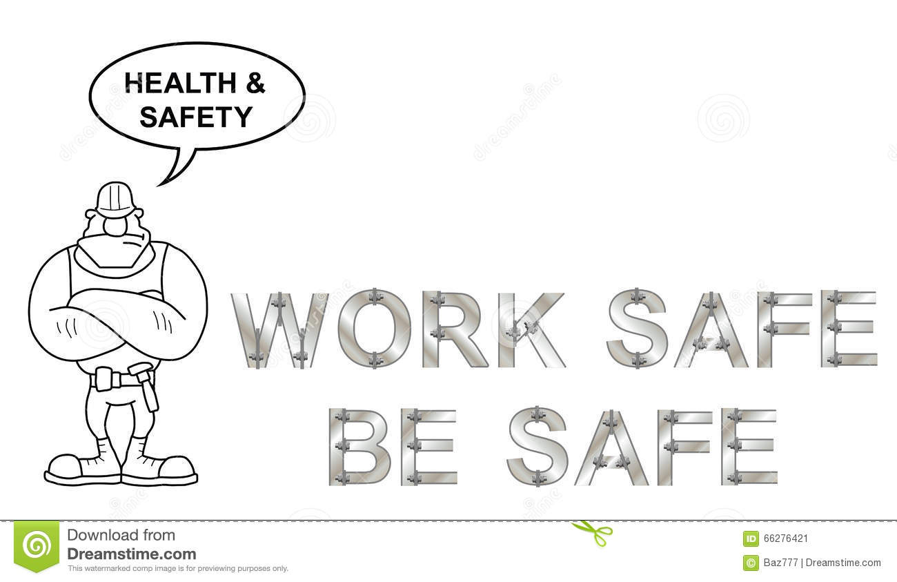 Health and Safety Message stock vector. Illustration of