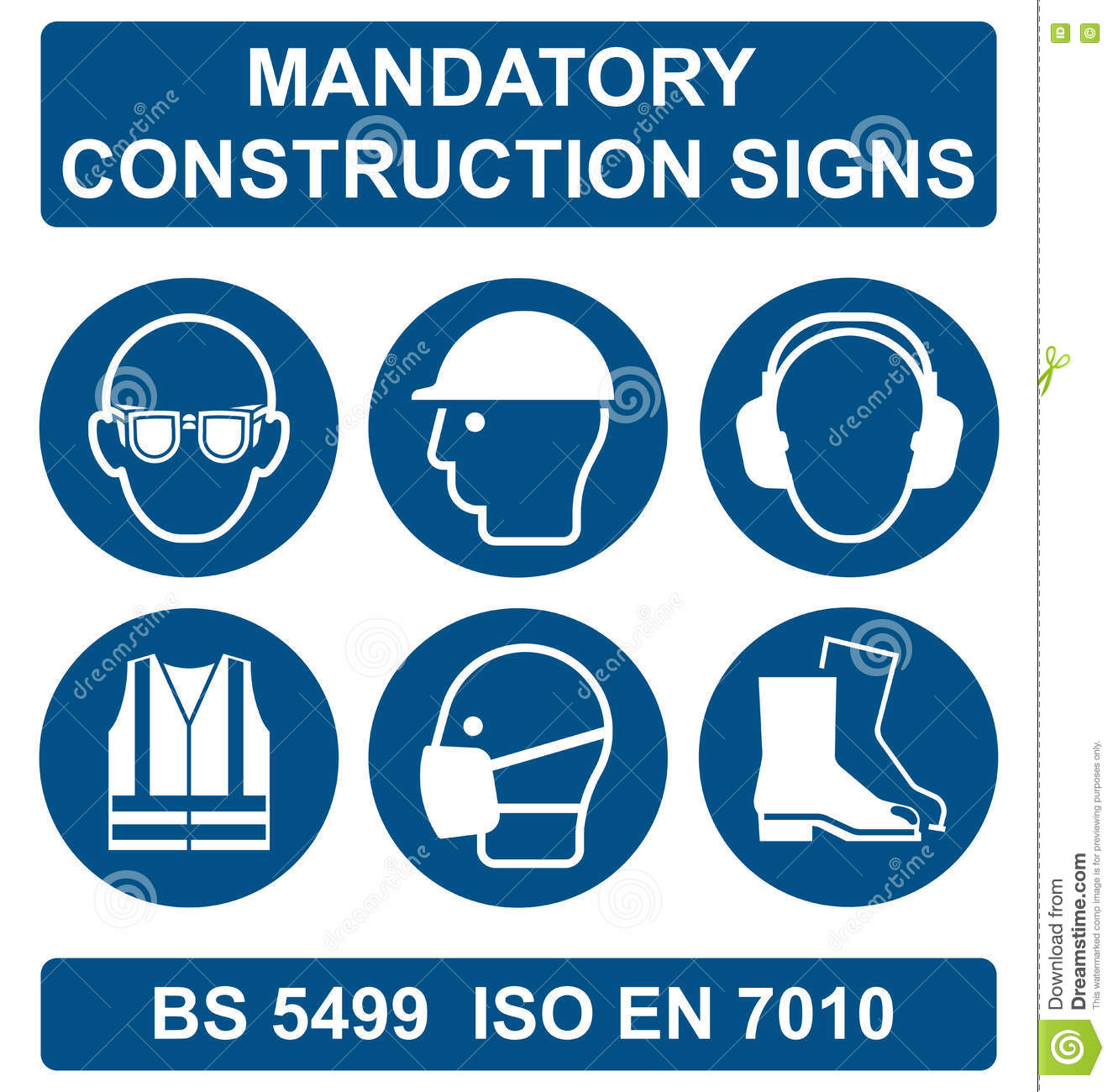 Health And Safety Signs Cartoon Vector