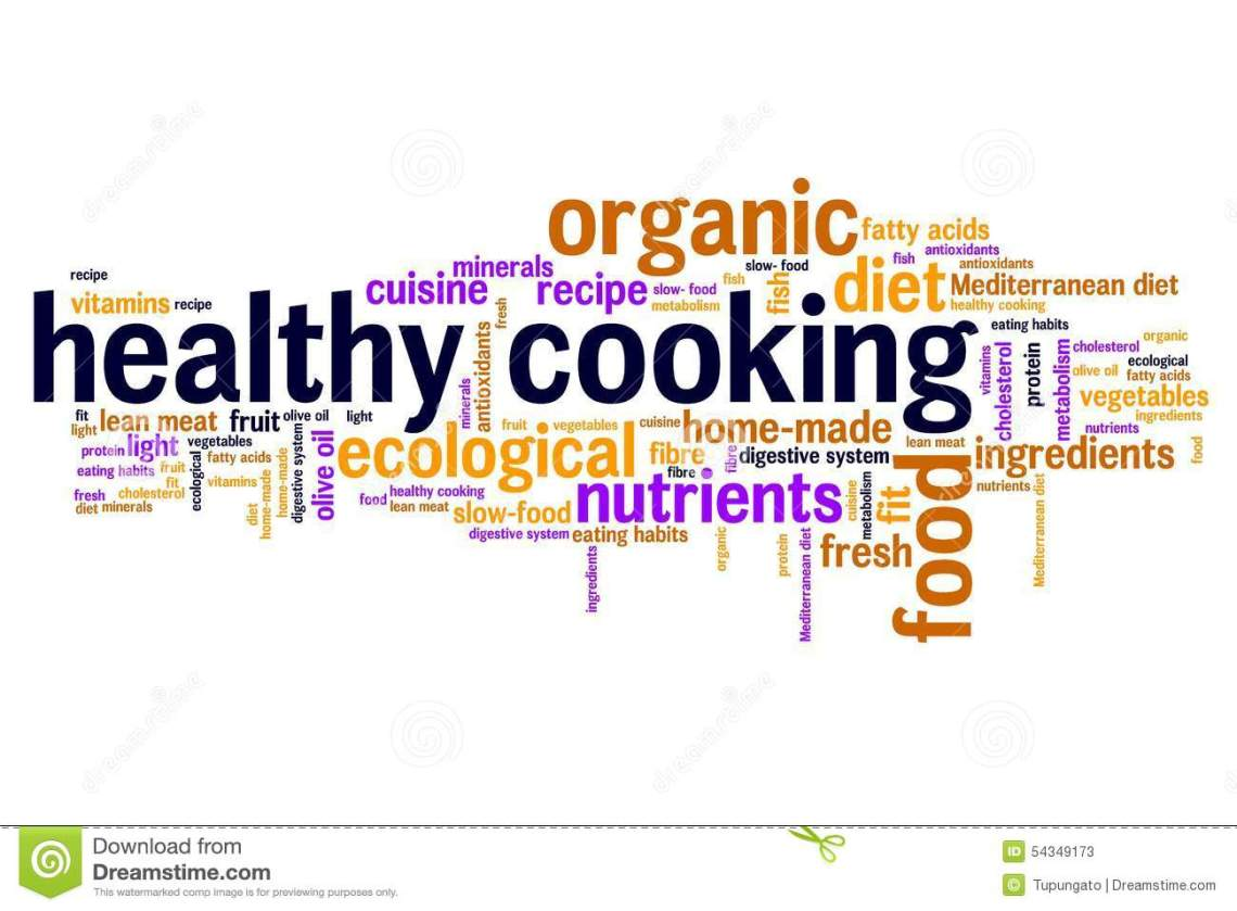 Healthy Cooking Stock Illustration - Image: 54349173