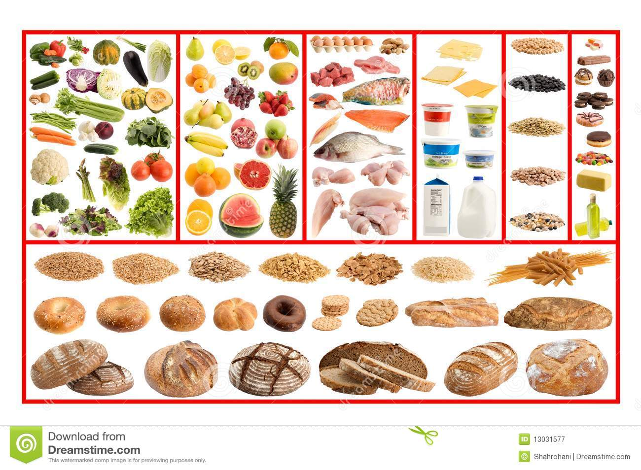 Healthy Food Guide Stock Image Image Of Cookingt