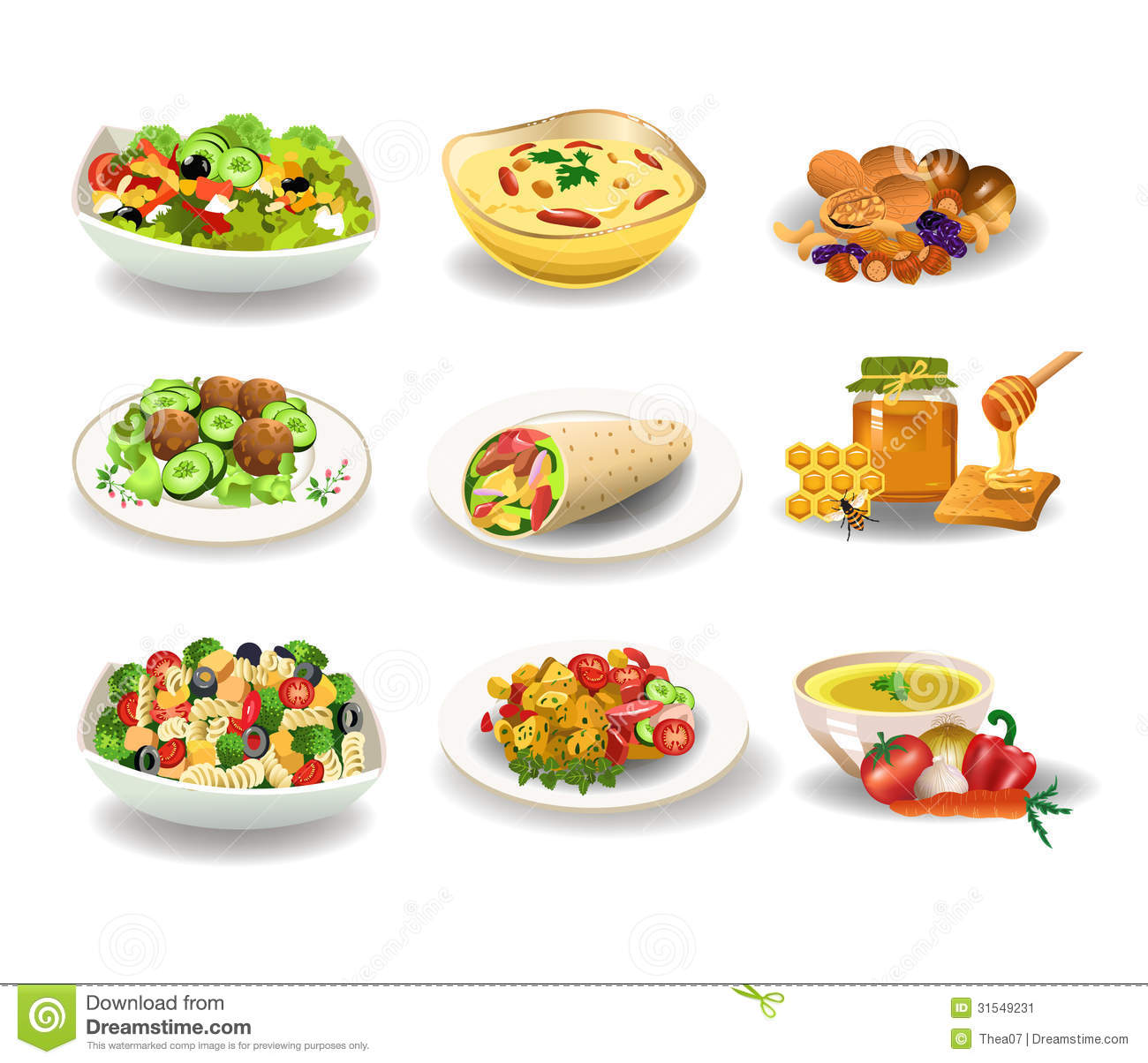 healthy food stock vector