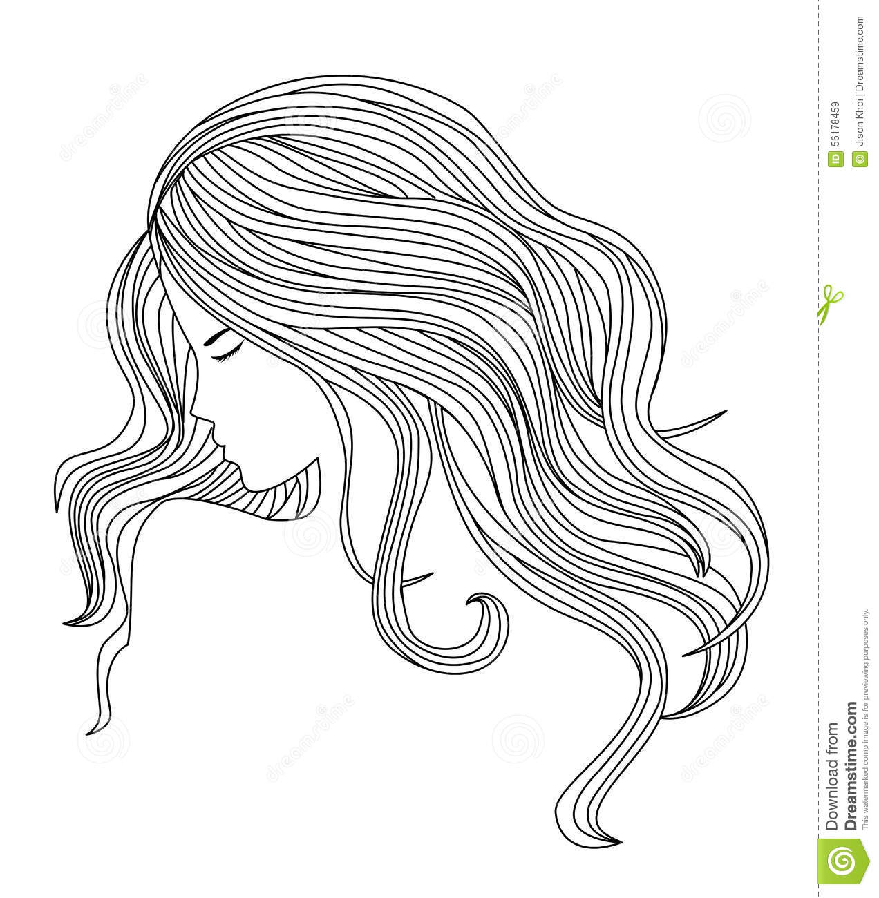 Healthy Hair Illustration Stock Vector Illustration Of