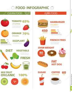 Healthy and junk food infographic also stock vector illustration of rh dreamstime
