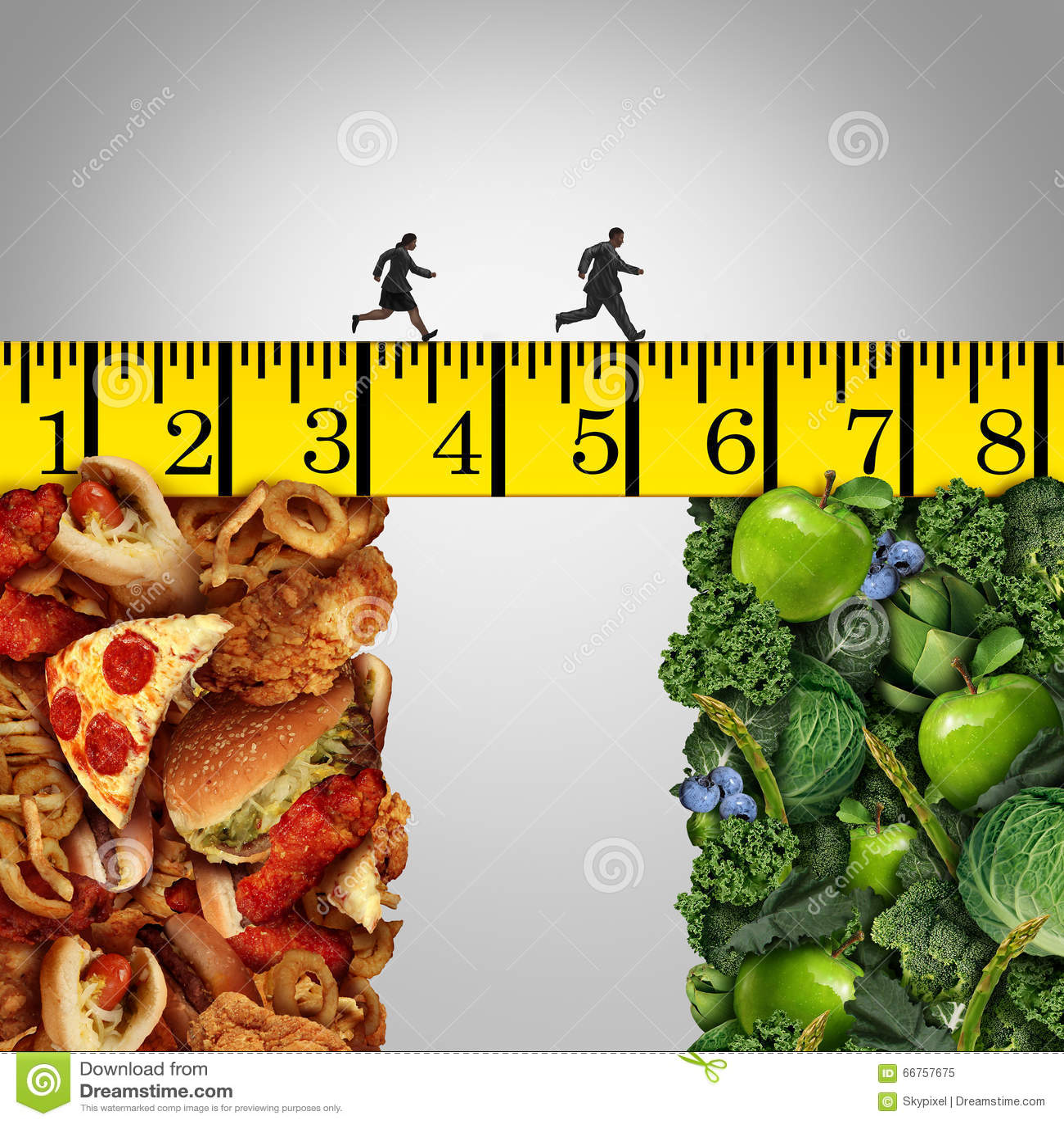 Healthy Lifestyle Change Stock Illustration