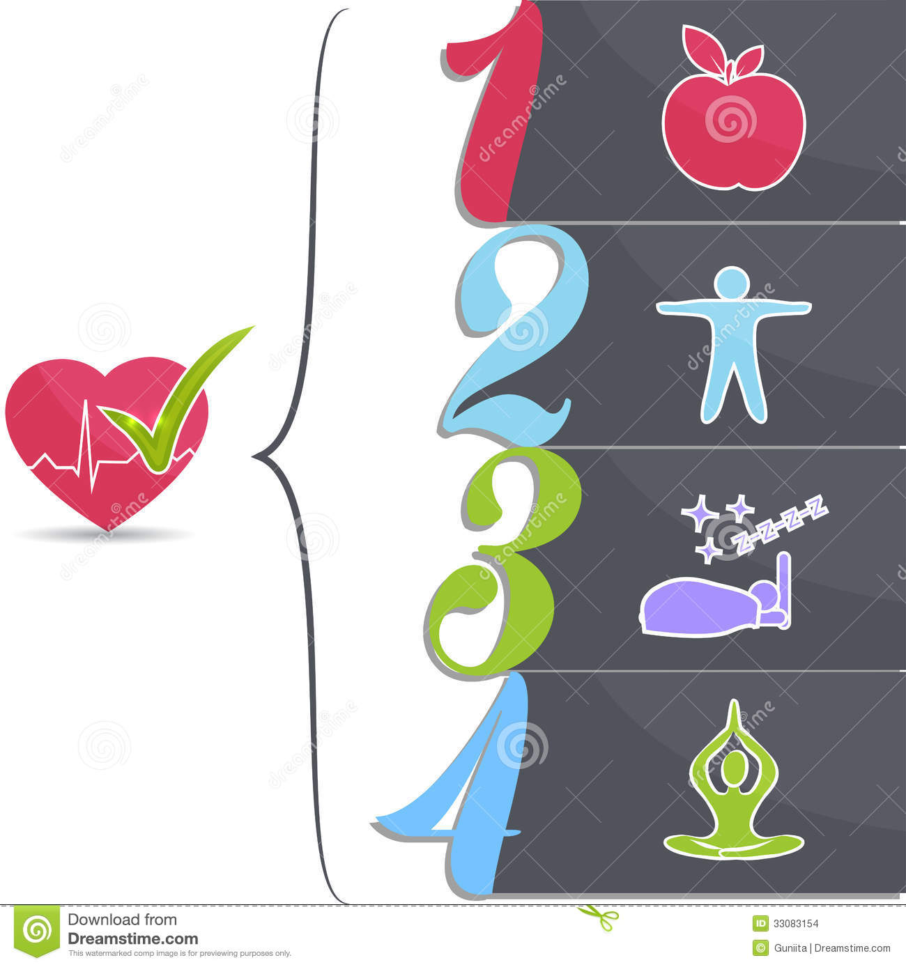 Healthy Lifestyle Tips Stock Images Image 33083154