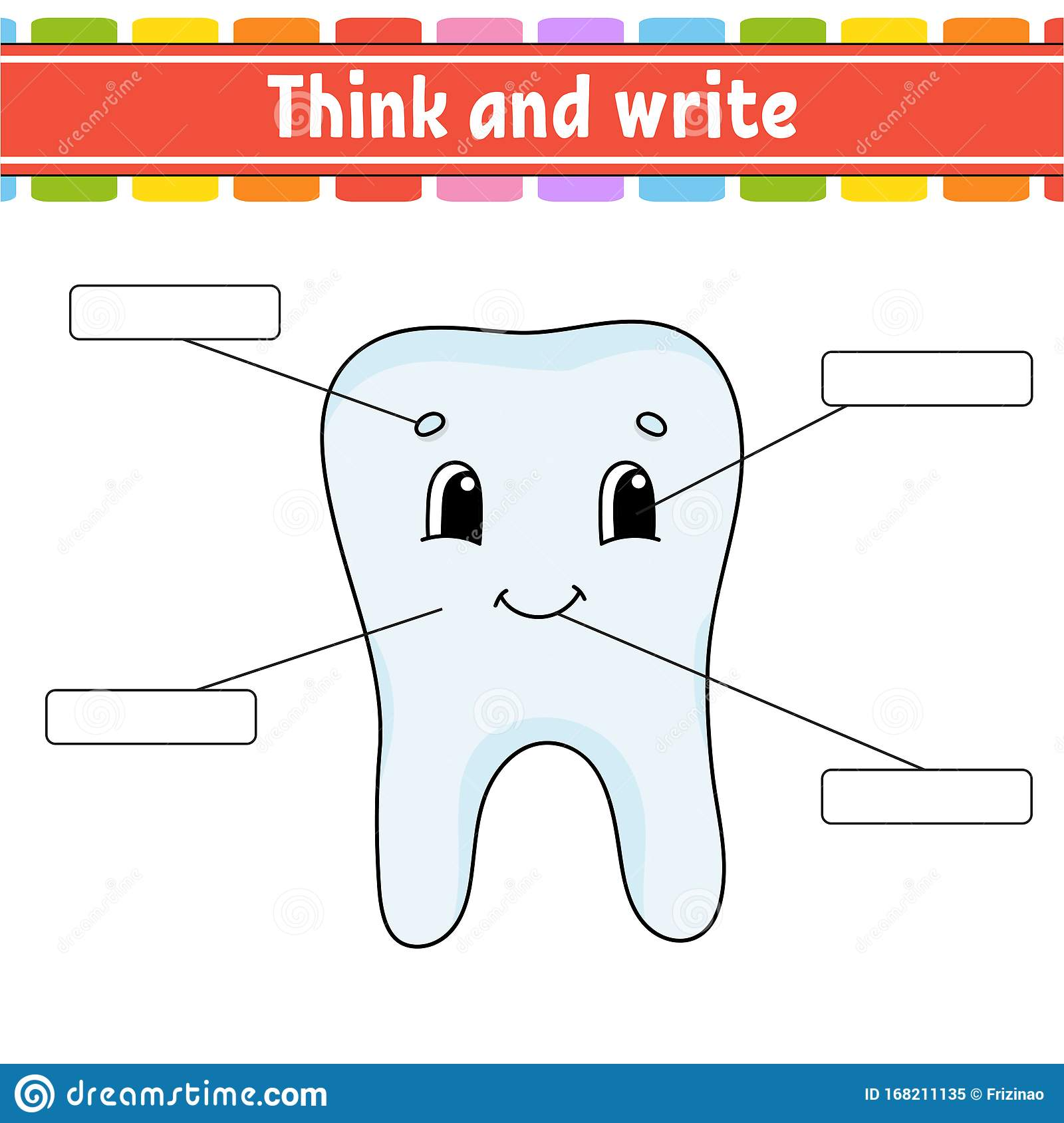 Healthy Tooth Think And Write Body Part Learning Words