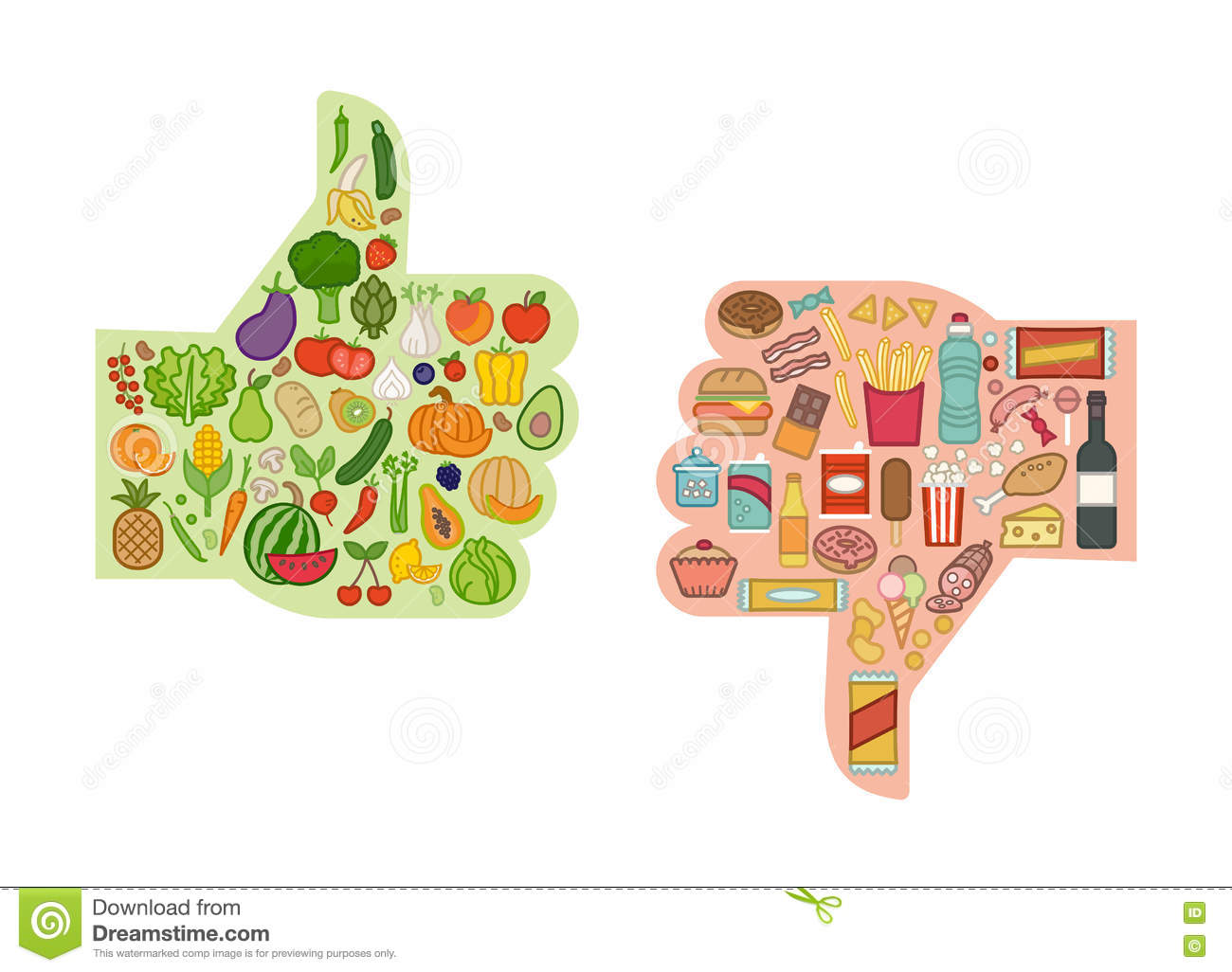 healthy food diagram 7 way rv trailer wiring unhealthy cartoons illustrations and vector stock images