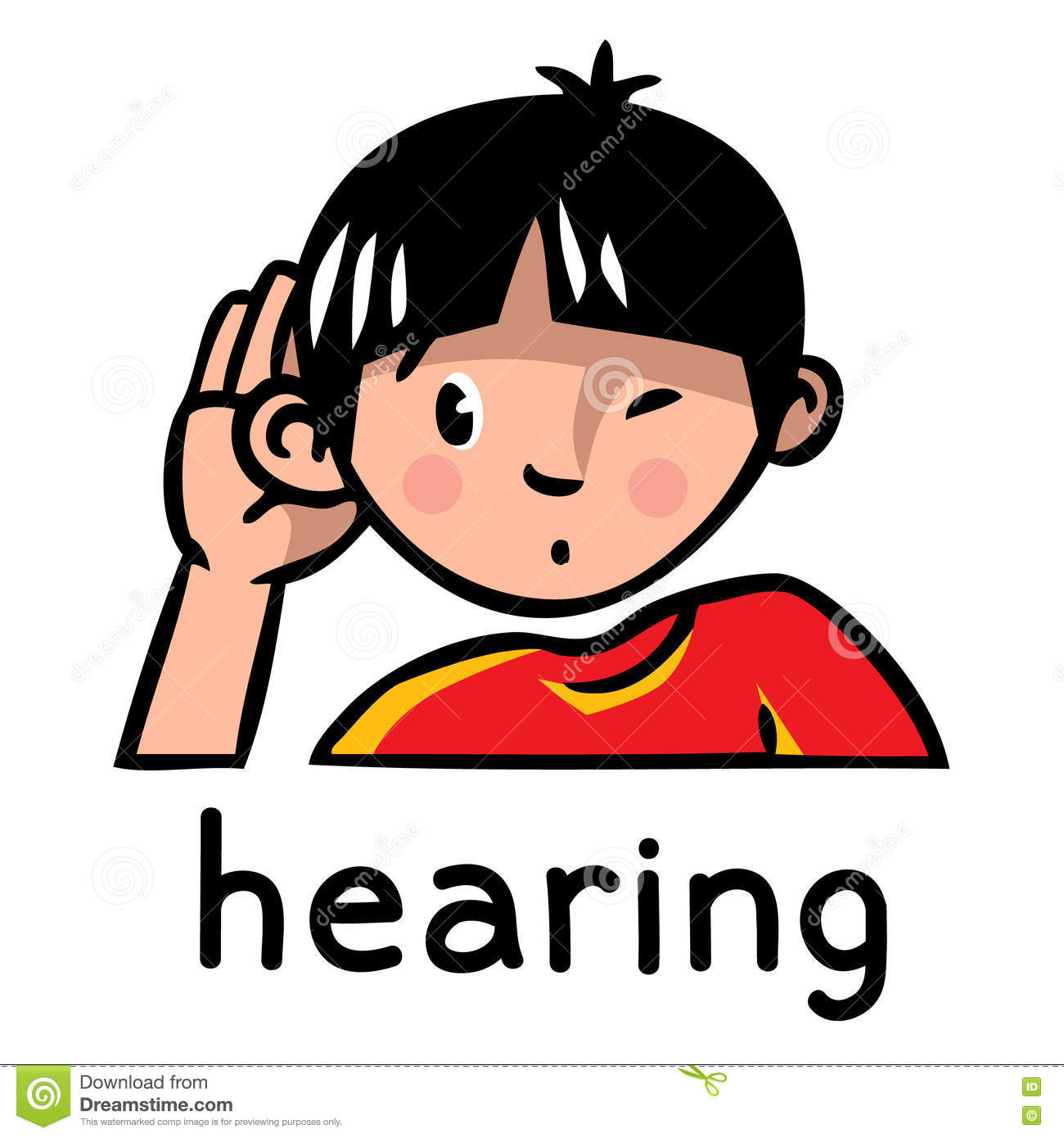 Hearing Sense Icon Stock Vector Illustration Of Hearing