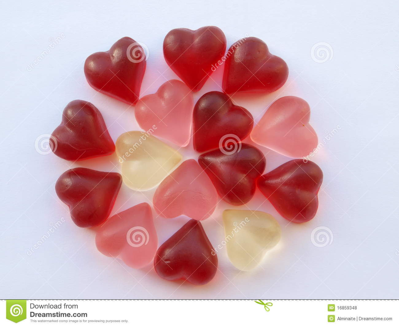 Heart Candies In Circle Royalty Free Stock Photos Image
