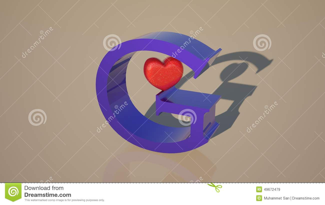 The Heart Of The Letter G Stock Photo - Image: 49672479