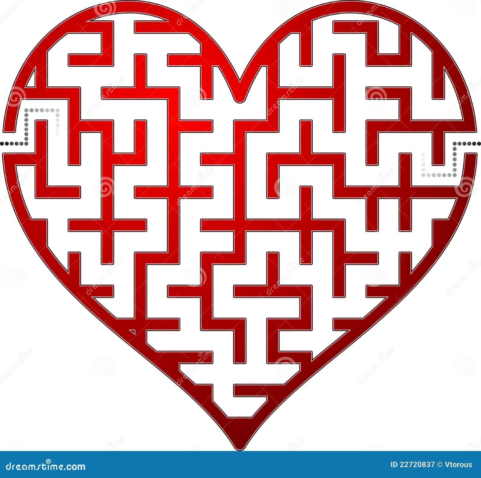 Heart Maze Stock Vector Illustration Of Design Lost
