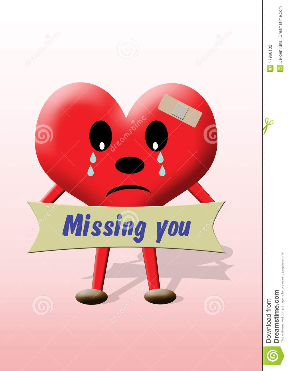 Heart Missing You Stock Photography Image 17966132