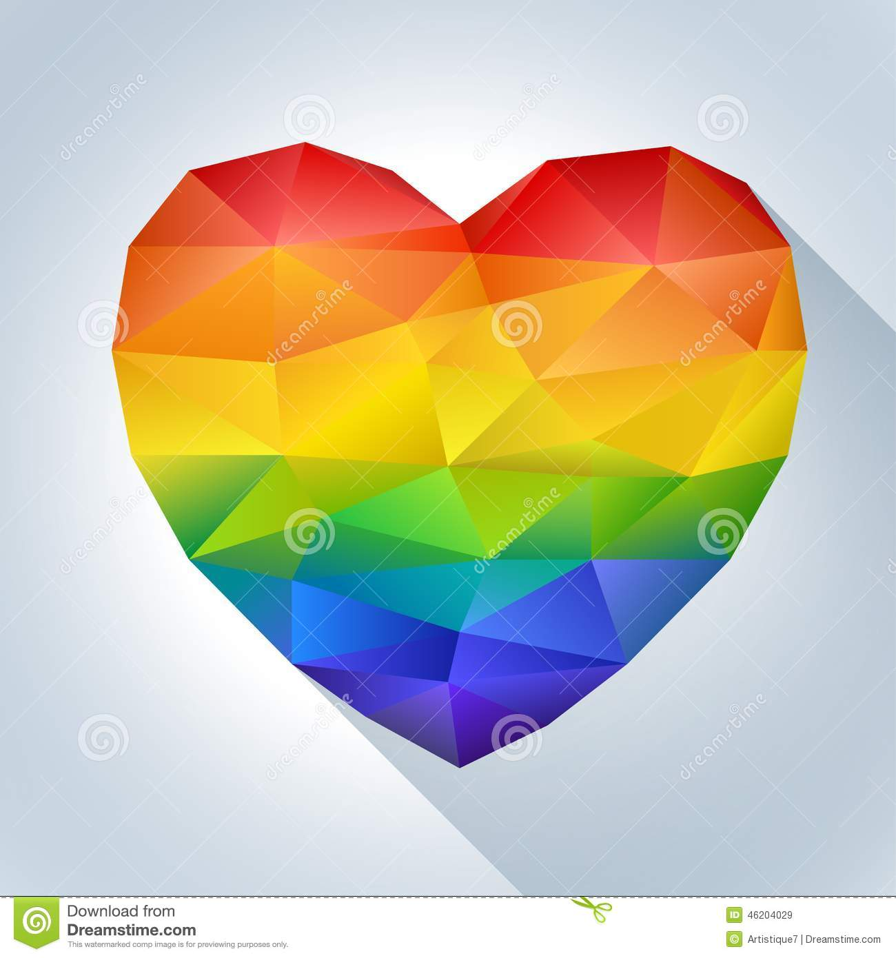 Heart In Rainbow Colors Stock Vector Image 46204029